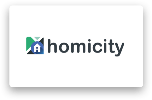 Homicity logo - Homicity is a real estate marketplace